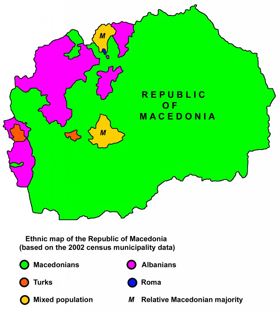 makedonija, etnička karta